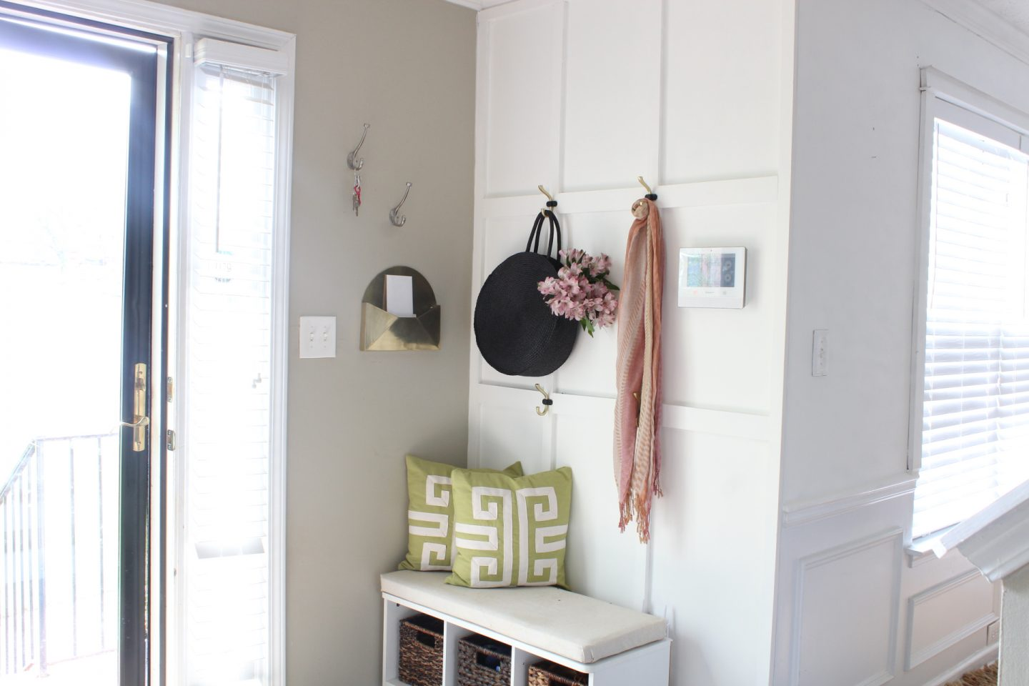 easy board and batten in foyer mudroom