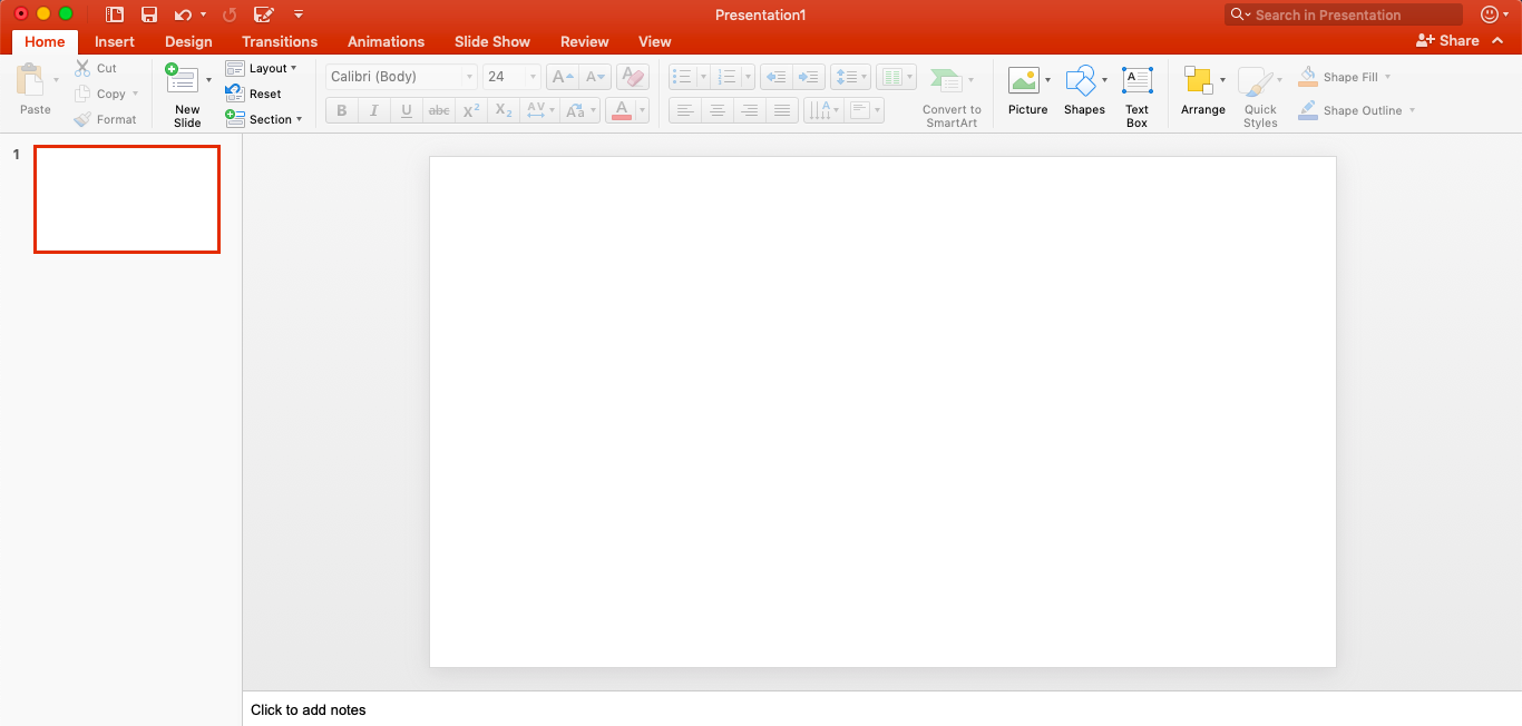 step one of how to create a mood board in powerpoint