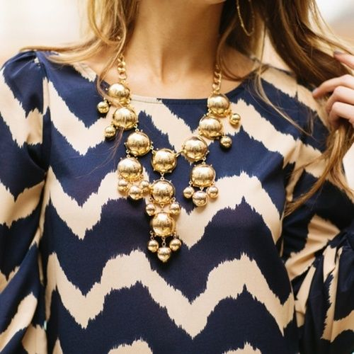 Current Obsession {Navy & Gold}