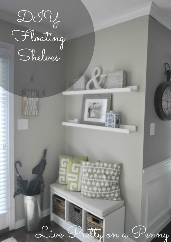 DIY Floating Shelves (A Throwback Post)