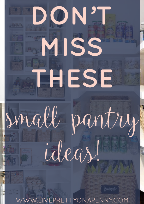 Small pantry organization ideas you can't miss! #pantryorganization #smallpantry