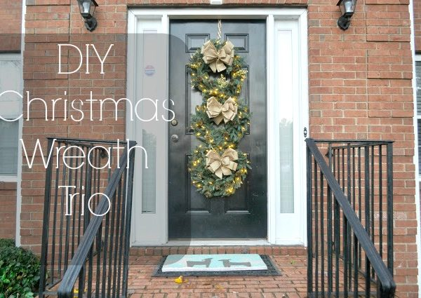 DIY Christmas Wreath Trio