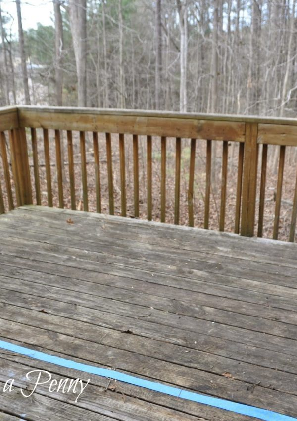 DIY Deck Staining