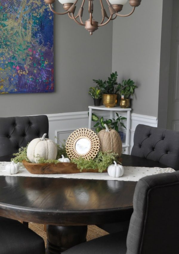Easy DIY Fall Centerpiece with Video Tutorial