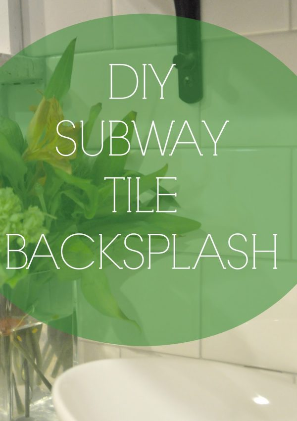 DIY Subway Tile Backsplash Reveal!!!