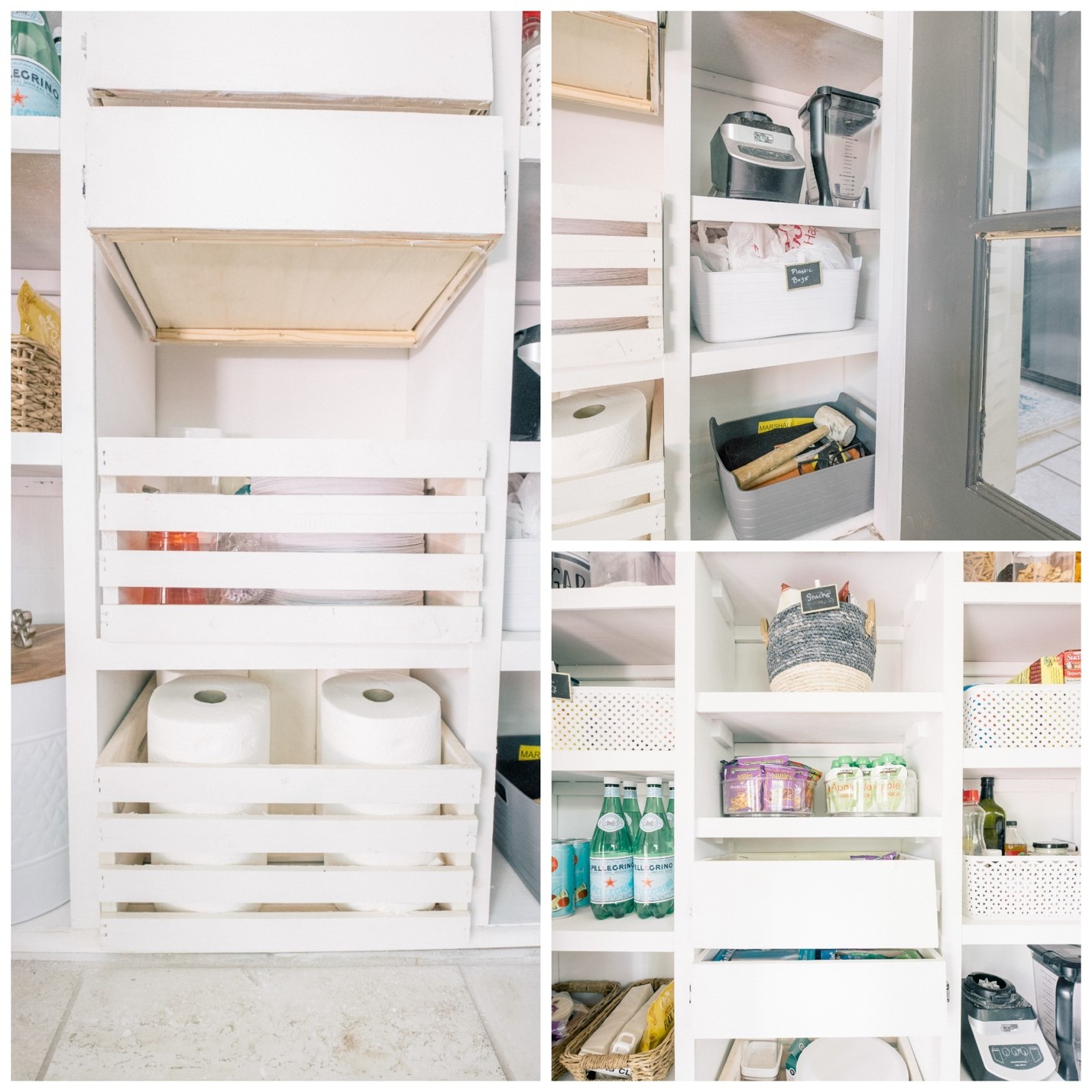 DIY custom pantry reveal