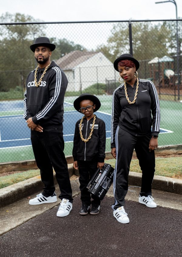 Family Run DMC Halloween Costume Photoshoot