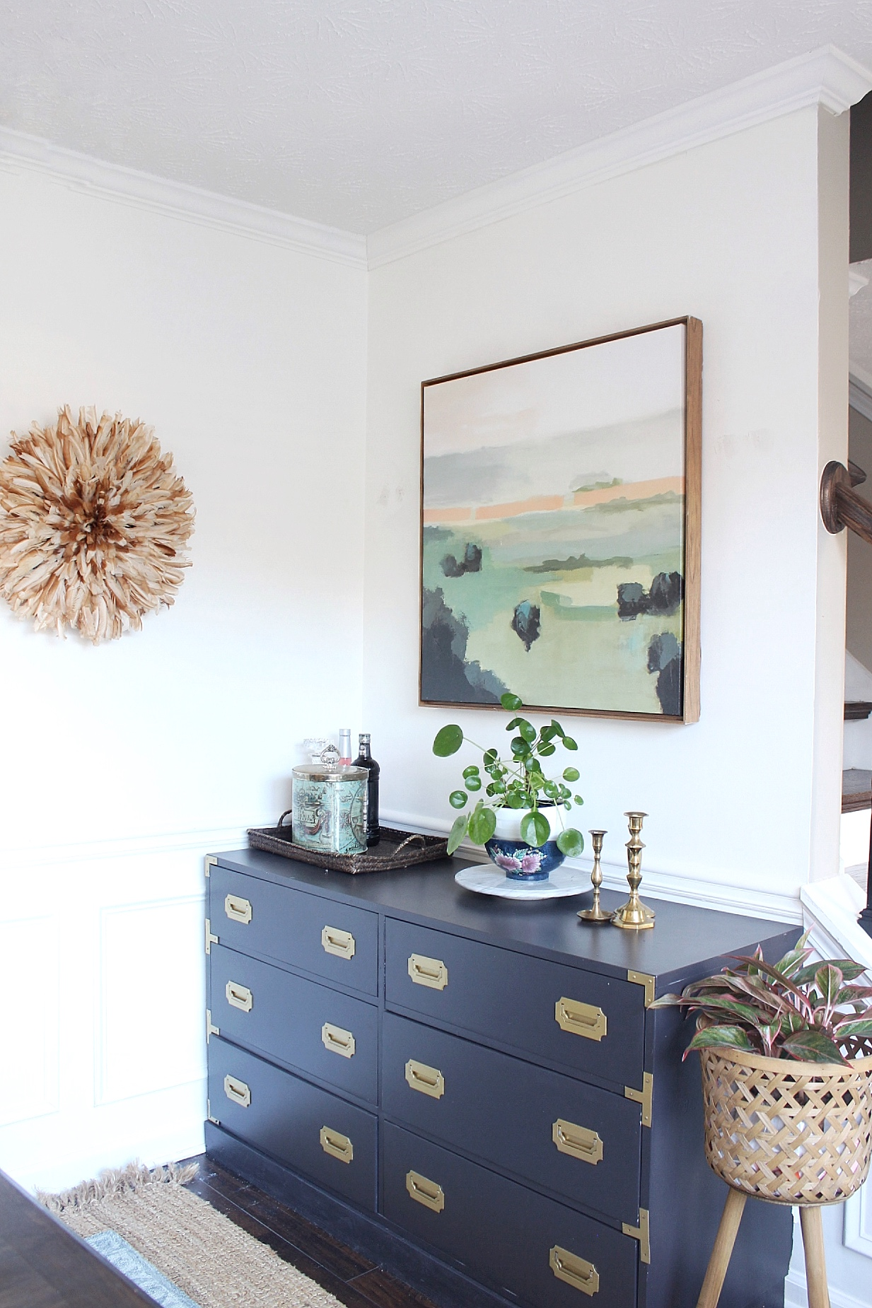 inexpensive dining room makeover