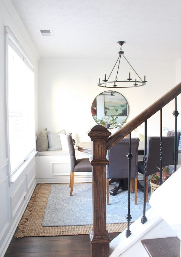 inexpensive dining room makeover reveal