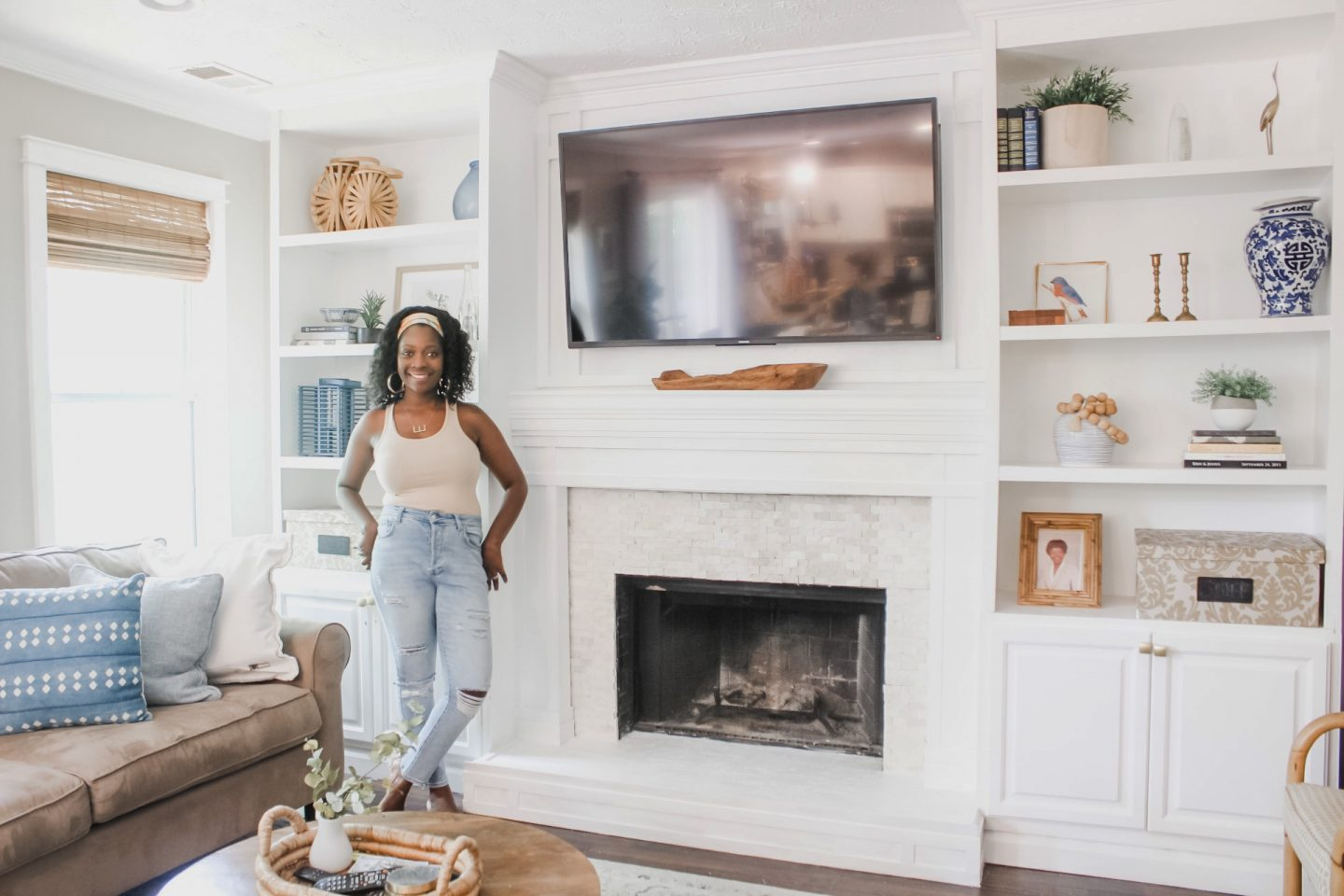 Diy Fireplace Surround And Tutorial Live Pretty On A Penny
