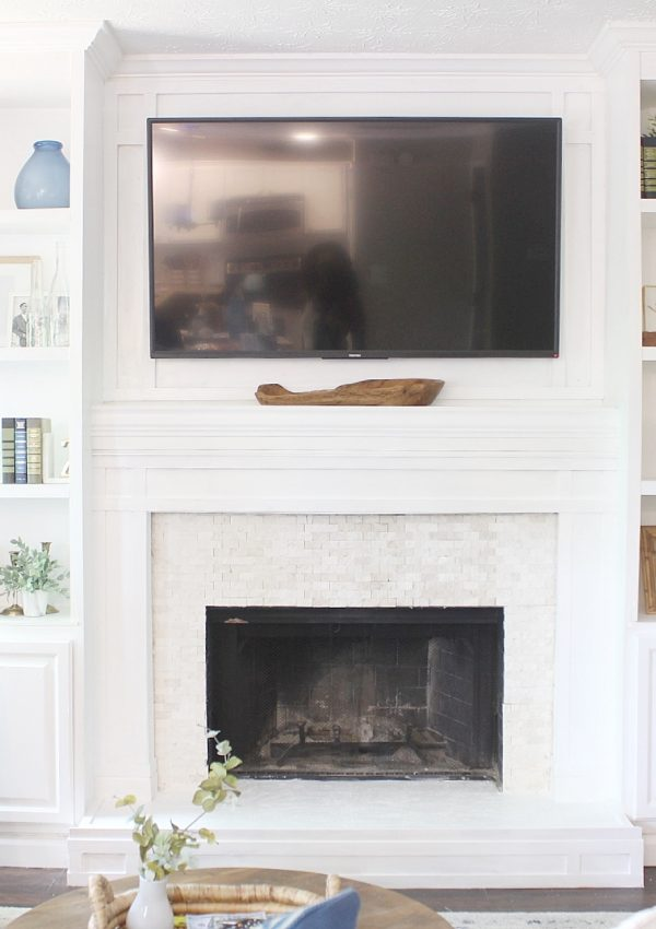DIY Fireplace Surround and Tutorial