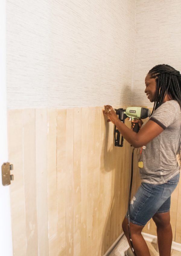 Spring 2020 One Room Challenge Week 4 Update: Vertical Shiplap Install