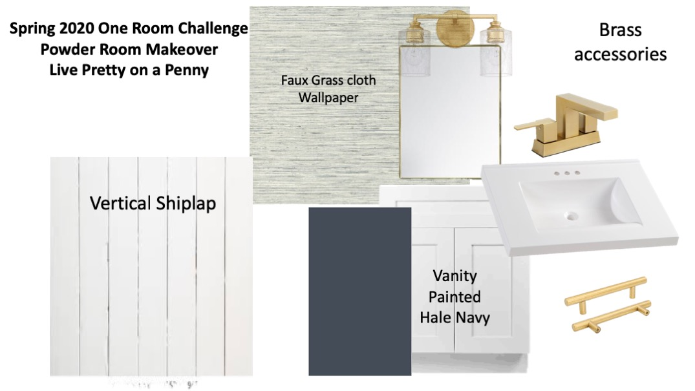 one room challenge 2020 mood board