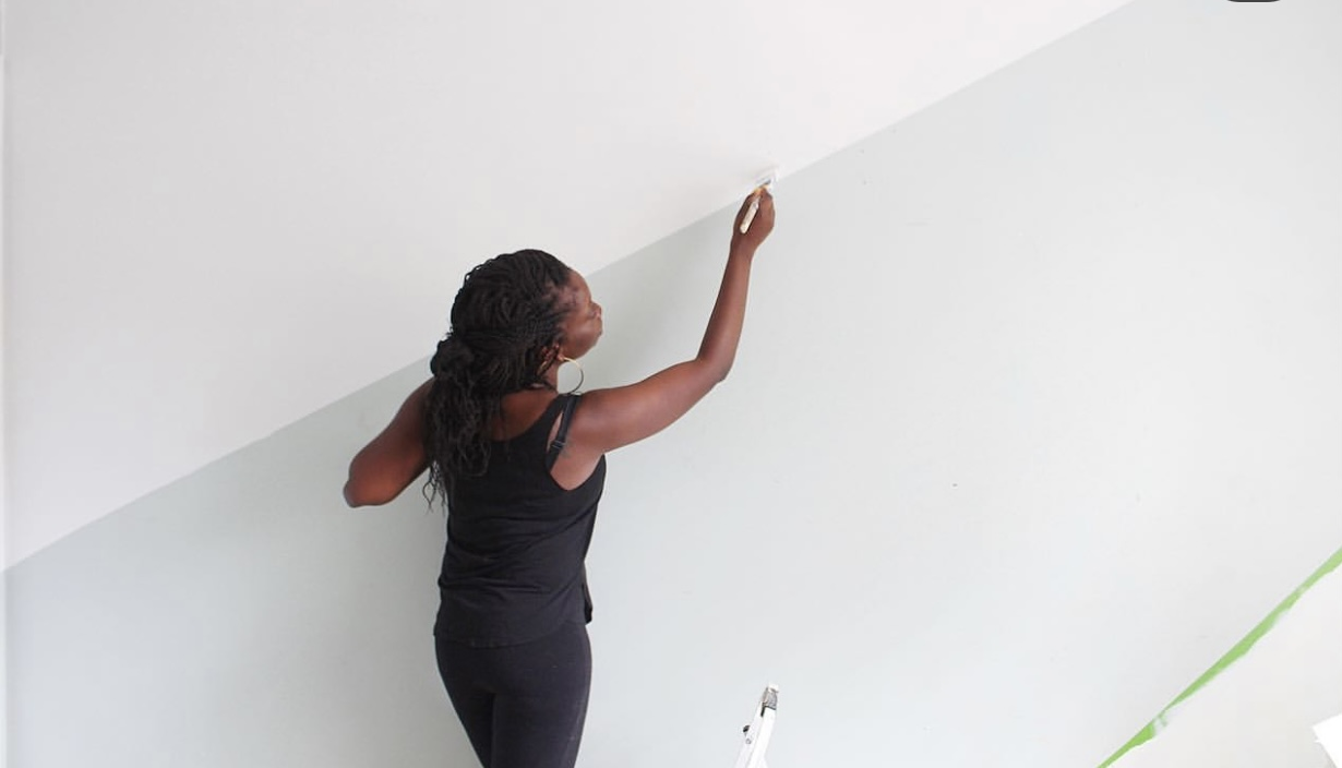 diy wall stripe