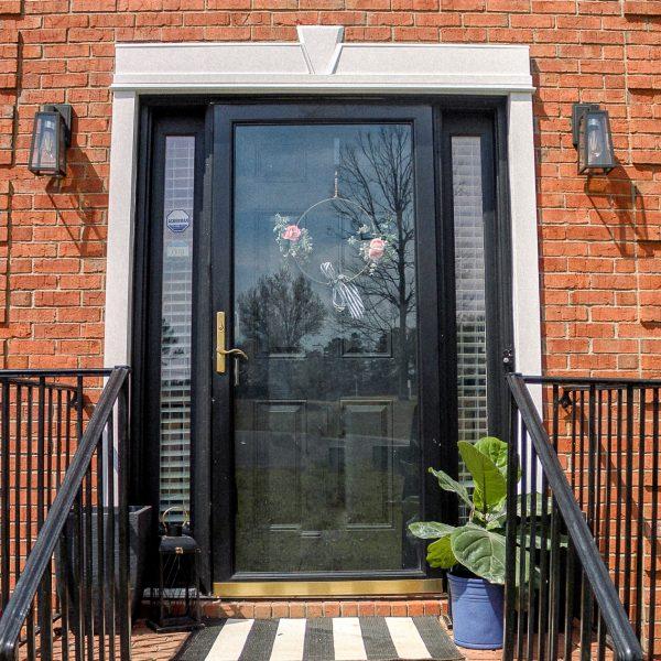 DIY Exterior Trim and Painted Door