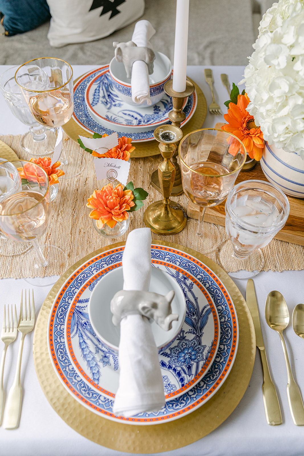 how to set a spring tablescape