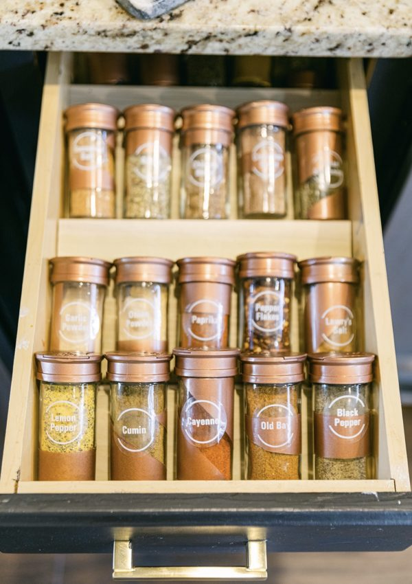 DIY Spice Drawer Insert