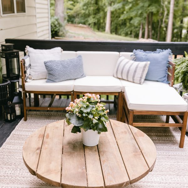 Deck Makeover with Black Stain DIY